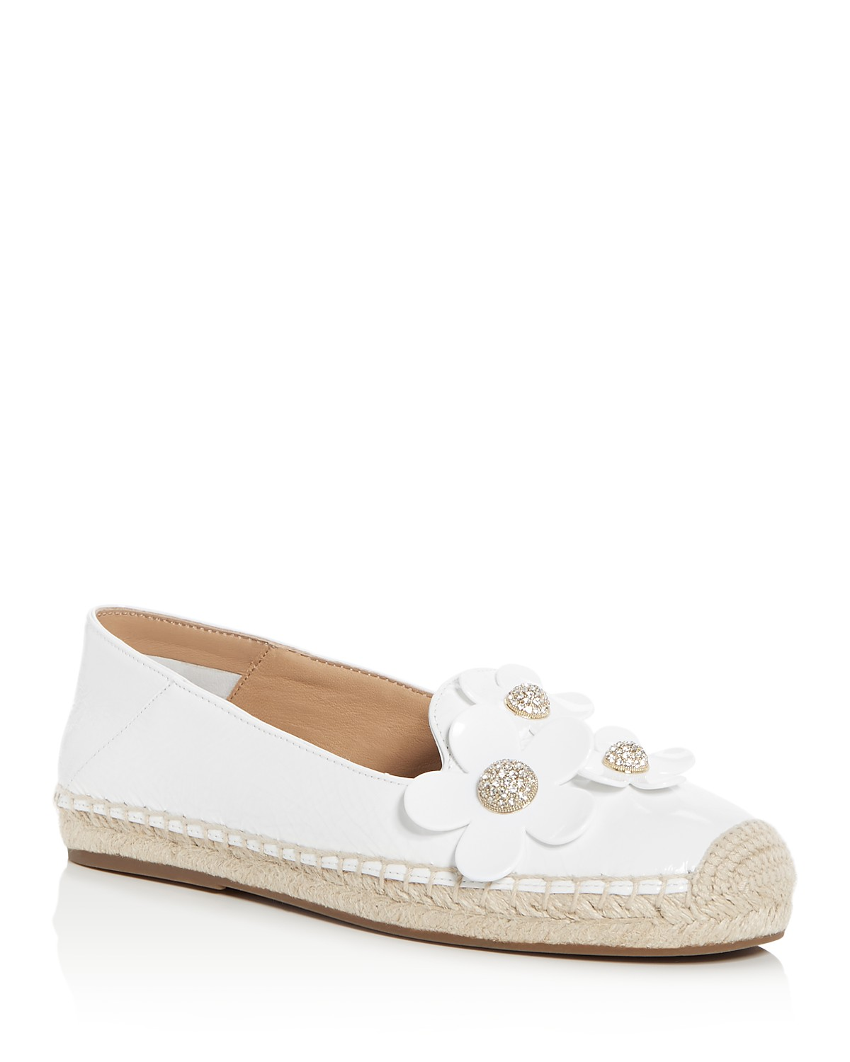 Marc Jacobs Women's Patent Leather Daisy Embellished Espadrille Flats oHiA5xR