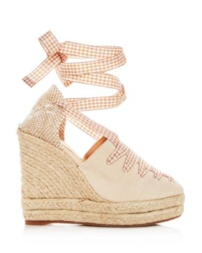 Castaner Women's Lula Ankle Tie Platform Wedge Espadrille Sandals nvUE7Ad