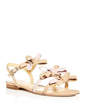 Isa Tapia - Nikita Suede Color-Block Bow Strappy Sandals