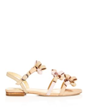 Isa Tapia Women's Nikita Suede Color-Block Bow Strappy Sandals fe5PI