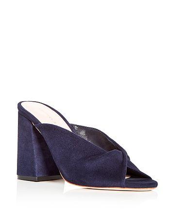 Loeffler Randall - Women's Laurel Suede High Block Heel Slide Sandals