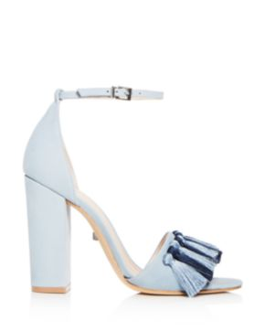 Schutz Women's Detty Suede Tassel High Block Heel Sandals - 100% Exclusive hi8HCp