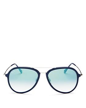 Ray-Ban - Unisex Brow Bar Aviator Sunglasses, 57mm