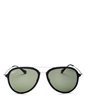 Ray-Ban - Unisex Polarized Aviator Sunglasses, 57mm