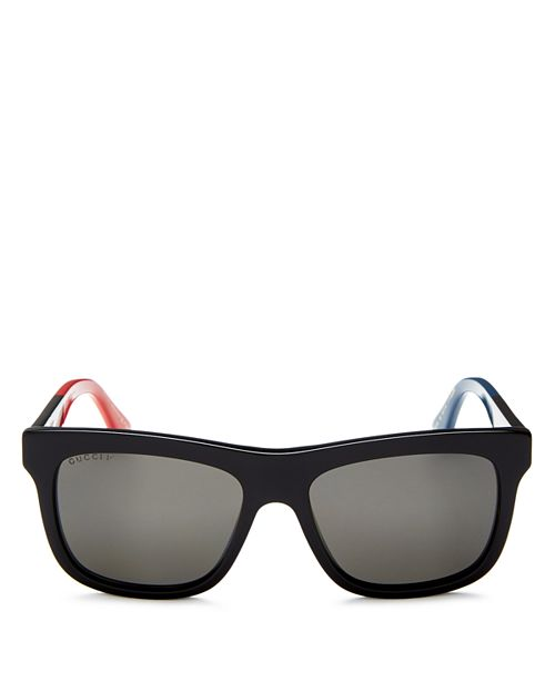 Gucci - Men's Flat Top Color-Block Square Sunglasses, 55mm
