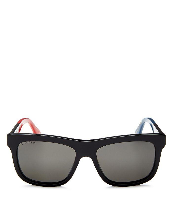 Gucci - Men's Flat Top Color-Block Square Sunglasses, 55mm