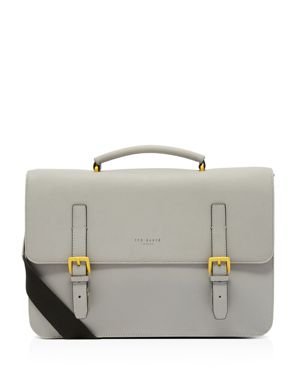 Barma Rubberized Briefcase - Grey, Gray