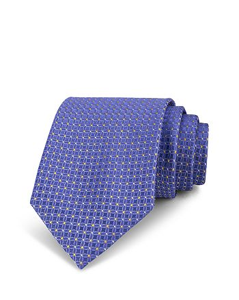 The Men's Store at Bloomingdale's - Neat Circle & Diamond Silk Classic Tie - 100% Exclusive