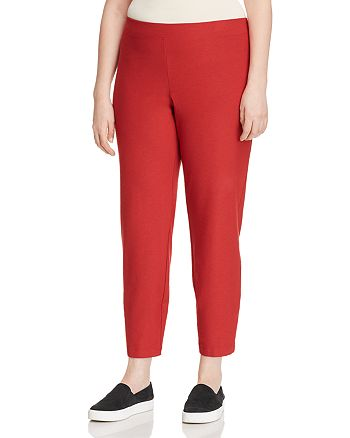 Eileen Fisher Plus - Straight-Leg Ankle Pants