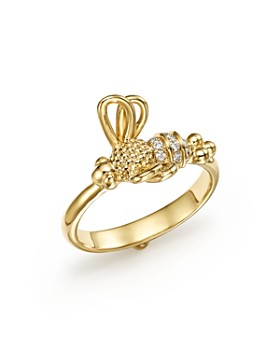 Temple St. Clair - 18K Yellow Gold Flying Bee Diamond Ring