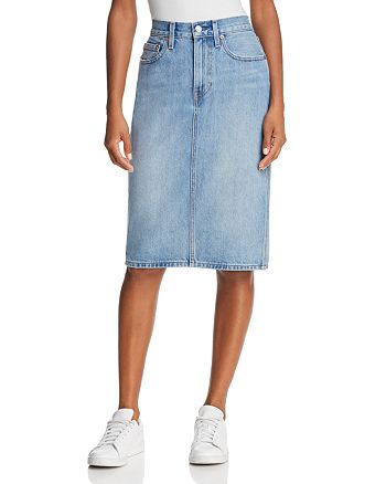 ba29e9ce Levi's Slit Denim Skirt in Blue Waves   Bloomingdale's