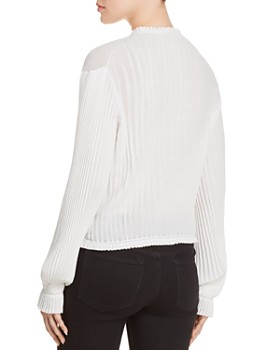 Elizabeth and James - Murphy Pleated Knit Top
