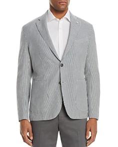 L.B.M - Shirt Stripe Cotton & Linen Slim Fit Sport Coat