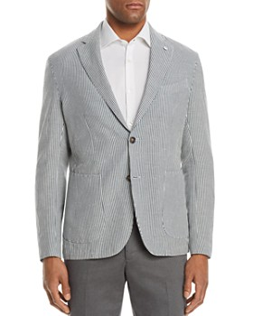 L.B.M - Shirt Stripe Cotton & Linen Slim Fit Sport Coat