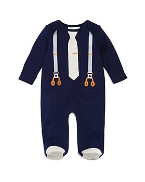 Miniclasix Boys Mock Tie  Suspenders Footie  Baby