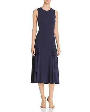 Tory Burch Shannon Drawstring Midi Dress