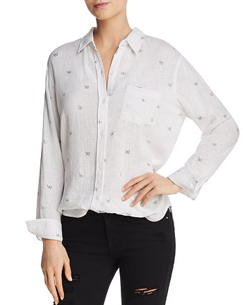 Rails - Charli Butterfly-Print Blouse - 100% Exclusive