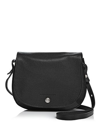 Le Foulonne Small Leather Saddle Handbag