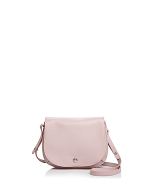 228b72797143 Longchamp Small Le Foulonne Leather Crossbody Bag - Pink In Powder ...