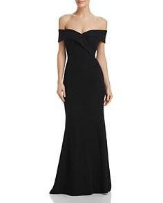 Eliza J - Shimmering Off-the-Shoulder Gown