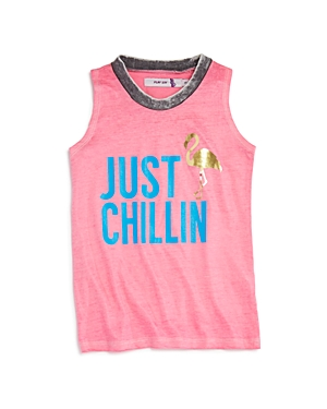 Play Six Girls Just Chillin Flamingo Tank  Little Kid