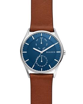 3d5bd2886ed Skagen - Brown Leather Strap Holst Watch, ...