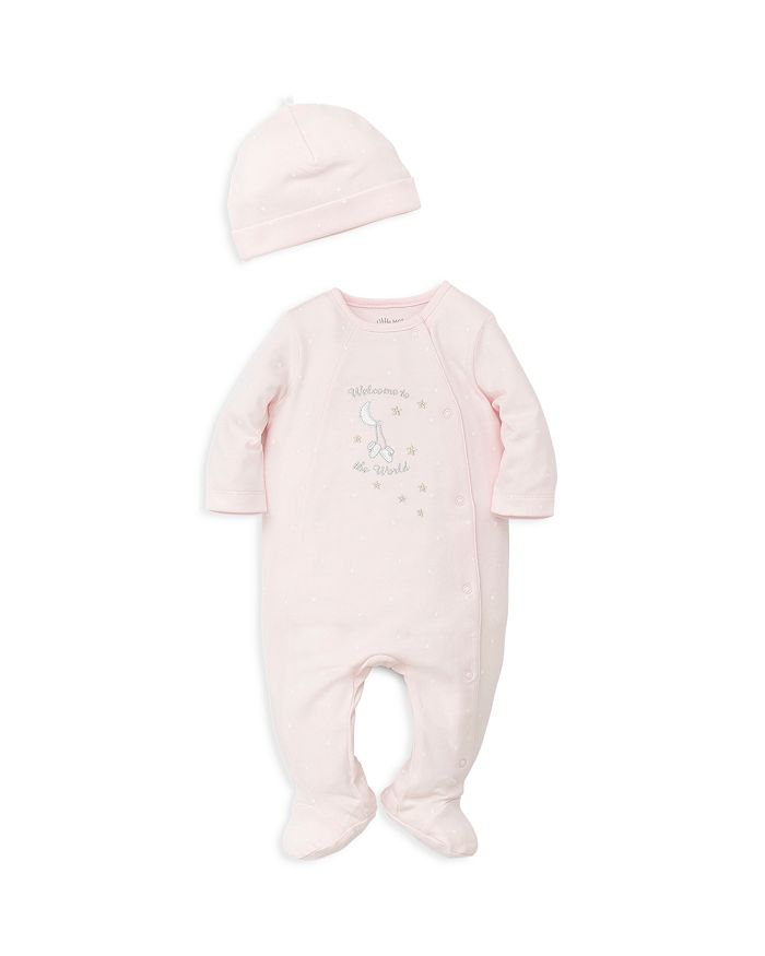 Little Me - Girls' Welcome to the World Footie & Hat Set - Baby
