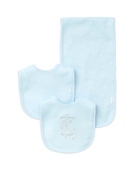 Little Me - Boys' Welcome to the World Bib & Burp Cloth Set - Baby