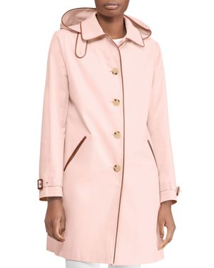 LAUREN RALPH LAUREN HOODED BALMACAAN TRENCH COAT