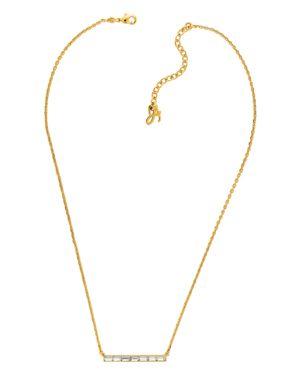 ADORE Baguette Crystal Bar Necklace, Gold