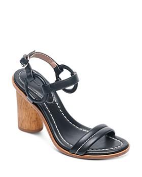 Bernardo - Women's Leather Circle Strap Block Heel Sandals