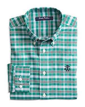 Brooks Brothers Boys' Non-Iron Tattersall Sport Shirt - Little Kid, Big Kid