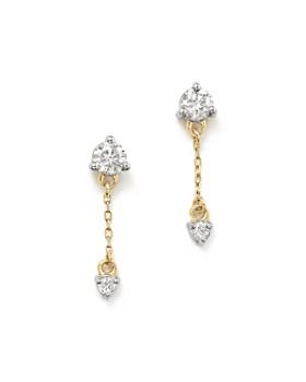 Adina Reyter - 14K Yellow Gold Amigos Diamond Chain Drop Earrings