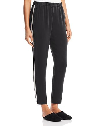 Eileen Fisher Petites - Slouchy Silk Track Pants - 100% Exclusive
