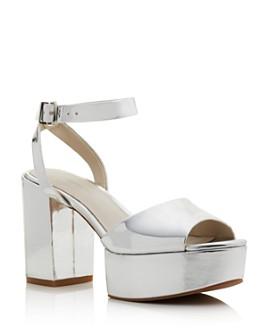 Kenneth Cole - Women's Phoenix Metallic Ankle-Strap Platform Sandals