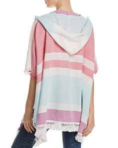 Fraas - Hooded Beach Stripe Ruana
