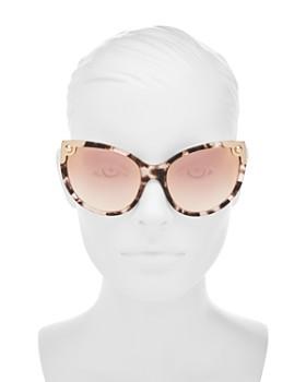 Dolce&Gabbana - Women's Mirrored Oversized Cat Eye Sunglasses, 60mm