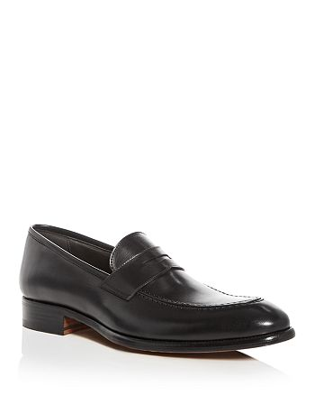 A.Testoni - Men's Leather Apron Toe Penny Loafers