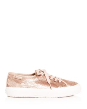 Superga Women's Sequin Lace Up Sneakers 2spr5