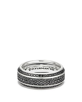 David Yurman - Streamline® Pavé Band Ring with Black Diamonds