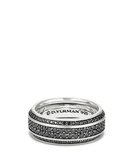 David Yurman - Streamline Pavé Band Ring with Black Diamonds