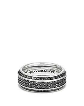 David Yurman - Streamline Pavé Band Ring with Black Diamonds