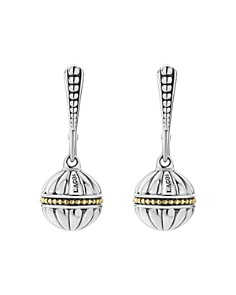 LAGOS - 18K Gold & Sterling Silver Caviar Talisman Beaded Drop Earrings