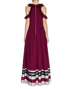 Ted Baker - Stepha Imperial Stripe Cold-Shoulder Gown