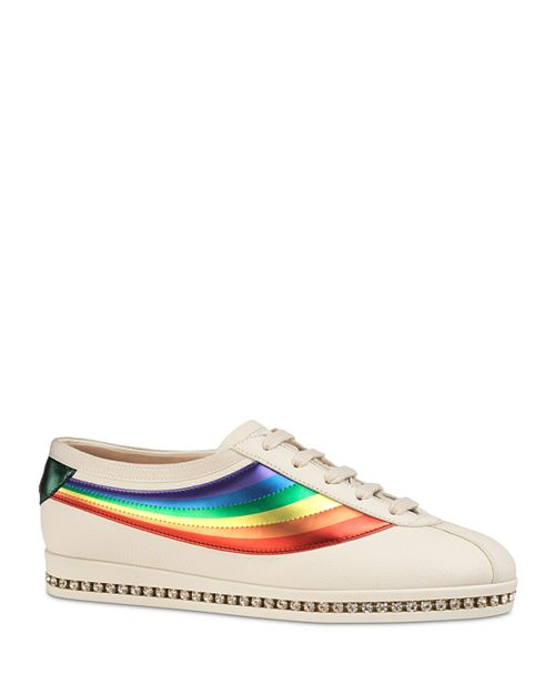 Gucci - Women's Leather Competition Lace Up Sneakers
