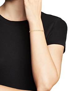 Moon & Meadow - Mirrored Heart Link Bracelet in 14K Yellow Gold - 100% Exclusive