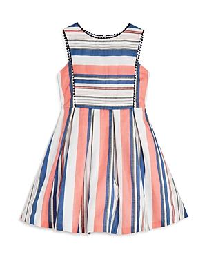 Pippa  Julie Girls Striped Dress with PomPom Trim  Big Kid