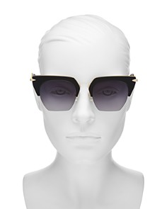 rag & bone - Women's 1007 Gradient Rimless Geometric Sunglasses, 51mm