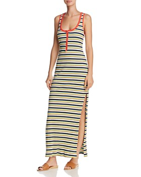 Splendid - x Margherita Striped Rib-Knit Maxi Dress