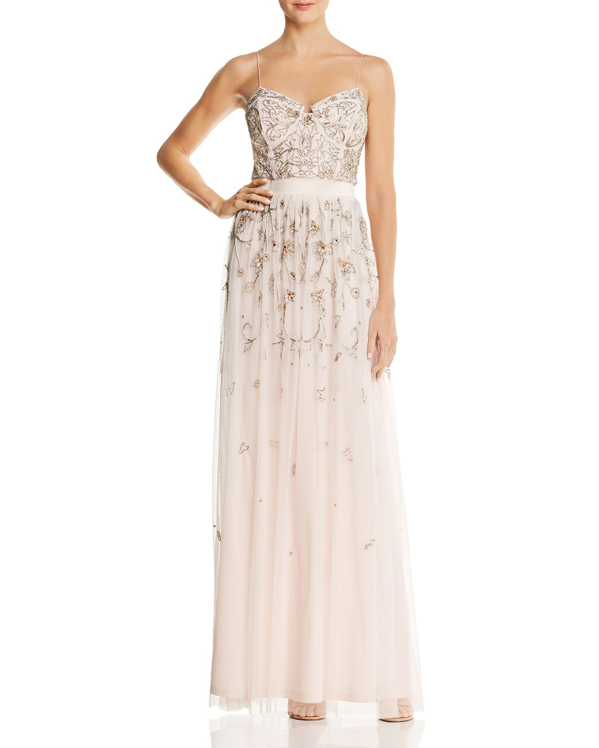 Embellished Bustier Gown by Aidan Mattox